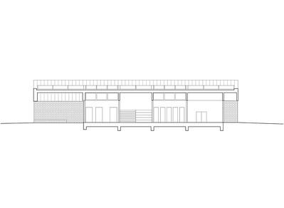 Plan 04 Doppelkindergarten Rüti - Querschnitt 2 1:200