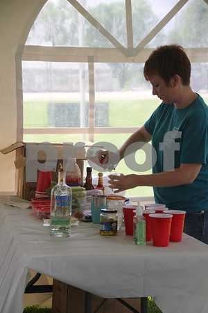 This lady was one of the  participants in the mixed drinks  competition held as part of the BBQ battle at the Fort Museum  grounds on May 16, 2015.
