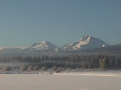 Snowy scene from lodge
