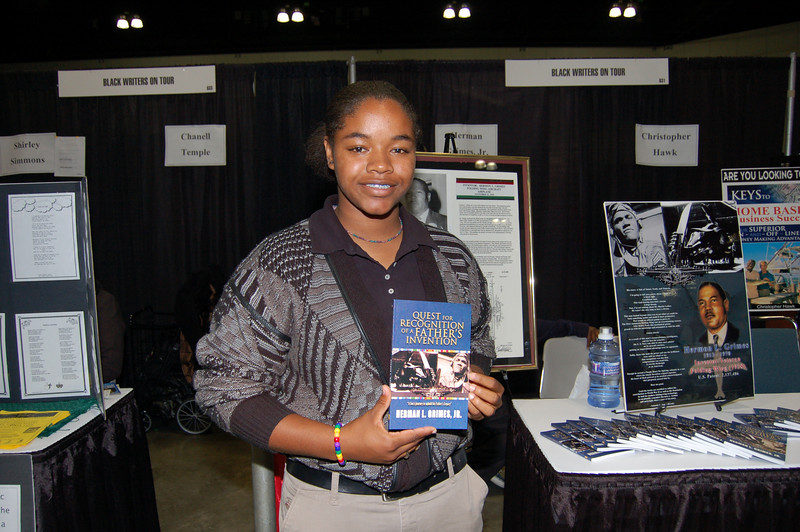 This young author is part of the Black Writers on Tour Row.   <br /> <br /> Photo by Isidra Person-Lynn