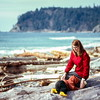 Kristi and Barbara at Rialto Beach, Olympic NP, WA - April 1972