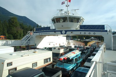 One of the Kootenay Lake ferries.  Sailing time is 35 minutes.