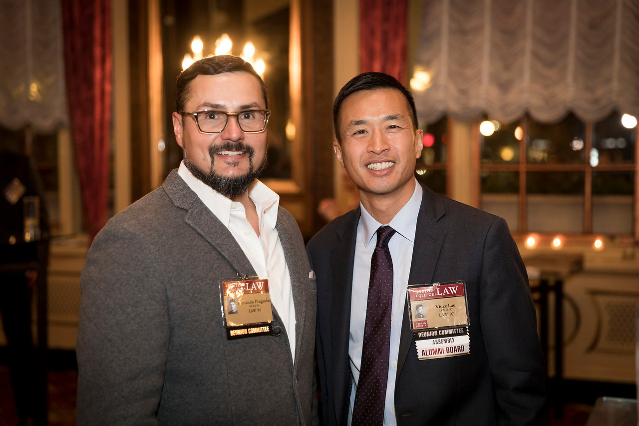 "November 4, 2017 -- Boston College Law School Reunion Weekend at the Fairmont Coplely Hotel, Boston, MA. Dean's Council reception. Photo by Caitlin Cunningham ( <a href=""http://www.caitlincunningham.com"">http://www.caitlincunningham.com</a>)."