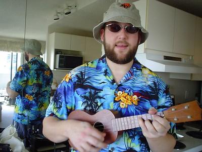 My boyfriend was MADE for Hawaiian shirts!