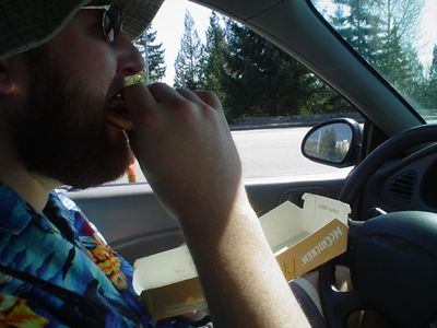 Fueling up on Gulp N' Blow on the way to the ACF grounds...