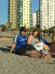 This is the boy G-Lo loves! Manjinder and Gloria chillin' at the beach...