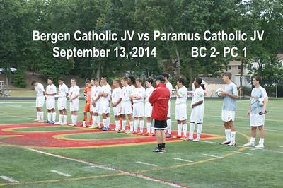 BC JV vs Paramus Catholic 9-13-14