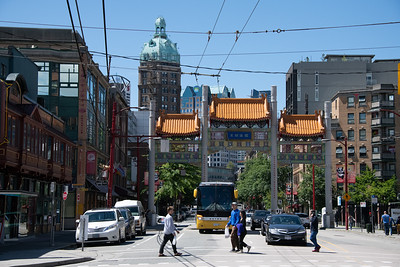 Gates of Chinatown - passing through. Jack Chow Building on left.