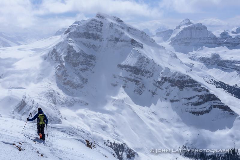 Bart Rijke Descends Nexus Peak, Mounts Ayesha and Des Poilus in the Distance