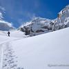 Sandra Birnie in the Uptrack Beneath Boomerang Glacier