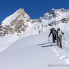 Saxon Kuhle and Pierre Hungr Skinning Toward Keffi Pass on the Way to La Clytte Mountain