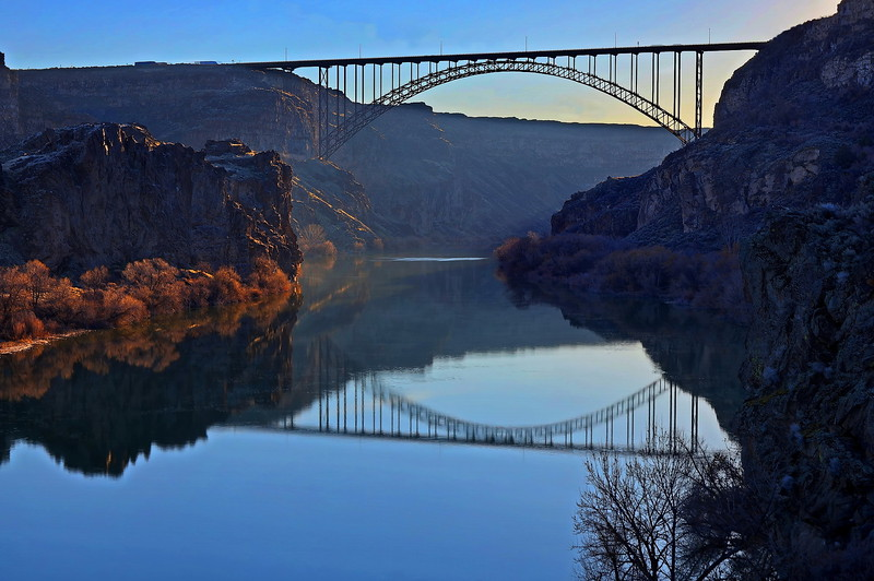 124 Neale Jenks 2 Perrine Bridge in Springtime sunrise
