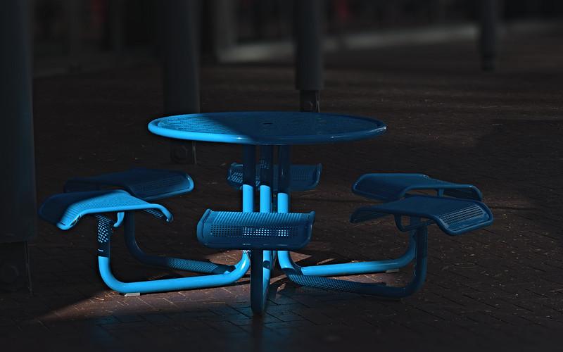 Paul Jenkins 1  Blue Table AS