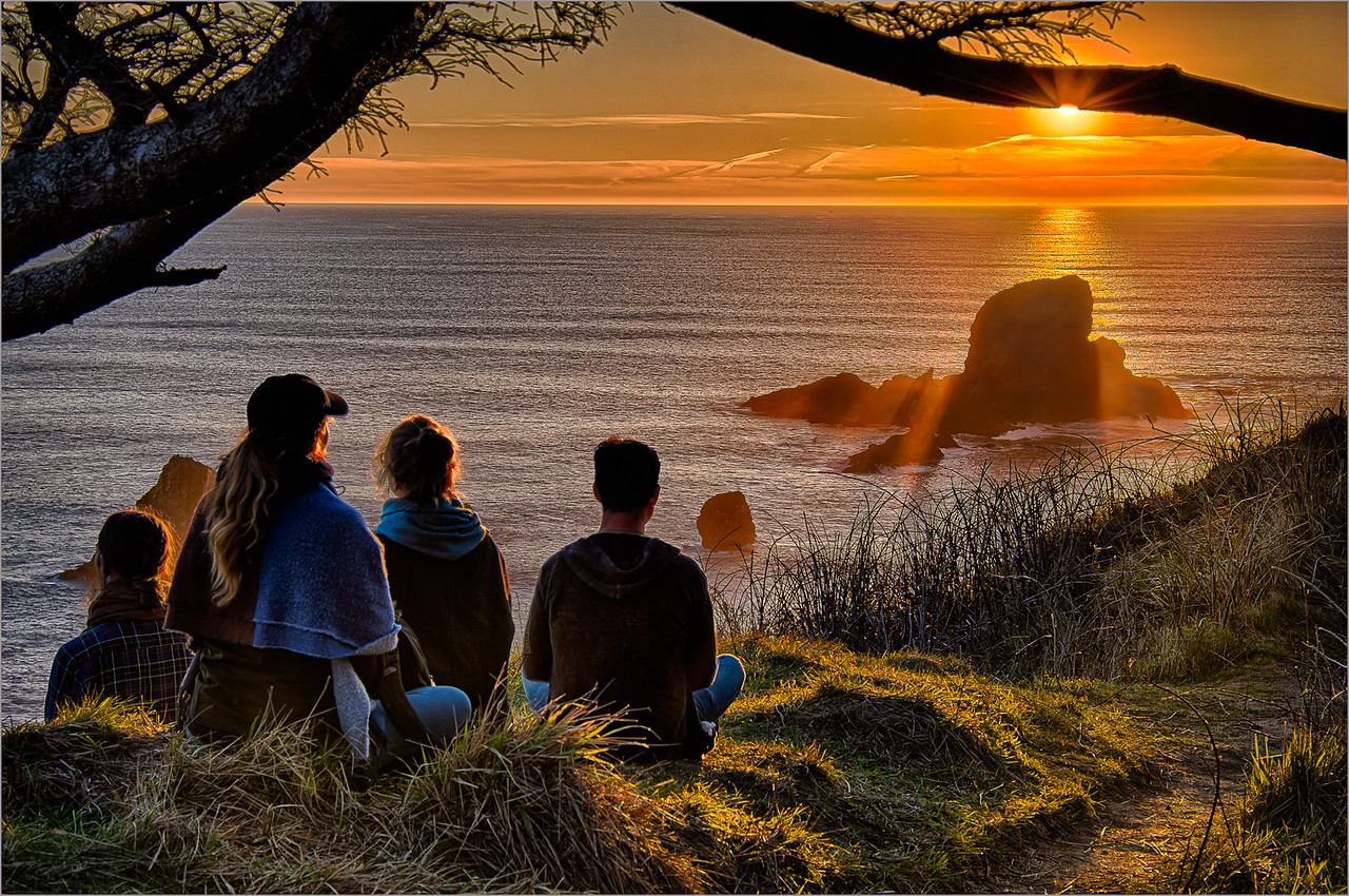 Sharp Todd 2 Family Watching Sunset