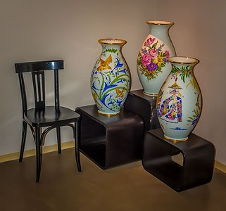 104 Peter Reali 2 Three Vases and a Chair2