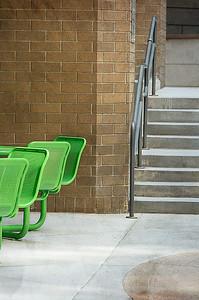 104 Ruthann Greene 2 Green Chairs