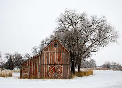 Mary Martindale 2 Red Barn in Winter jpg