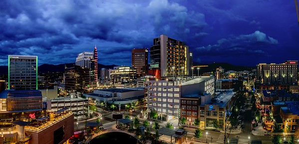 Peter Reali 1 Boise Blue Hour Nightscape