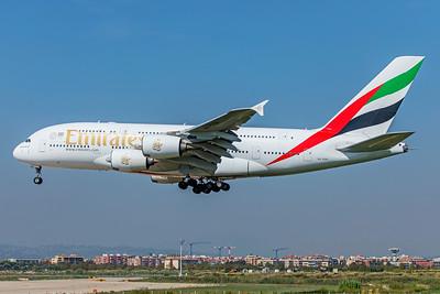 Emirates Airbus A380-861 A6-EDH 9-29-18