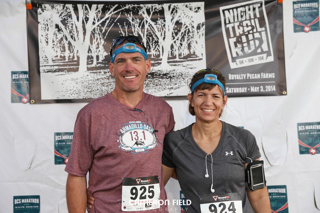 BCS Night Time Trail Run 5k/10k/15k<br /> Royalty Pecan Farms, Caldwell Texas<br /> May 3rd, 2014