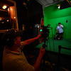 KRISTOPHER RADDER - BRATTLEBORO REFORMER<br />  Lead Instructor Frederic Noyes directs a scene using the green screen during the BCTV Video Camp on Wednesday, June 28, 2017.