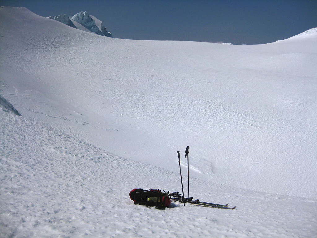 The skins were really effective and gave me heaps of confidence going uphill and across rough, icy surfaces.