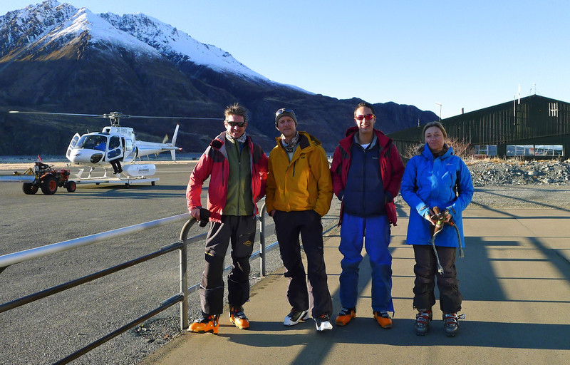 After three days of snow and not much skiing in the Two Thumb range, we couldn't wait to get onto the Tasman Glacier.