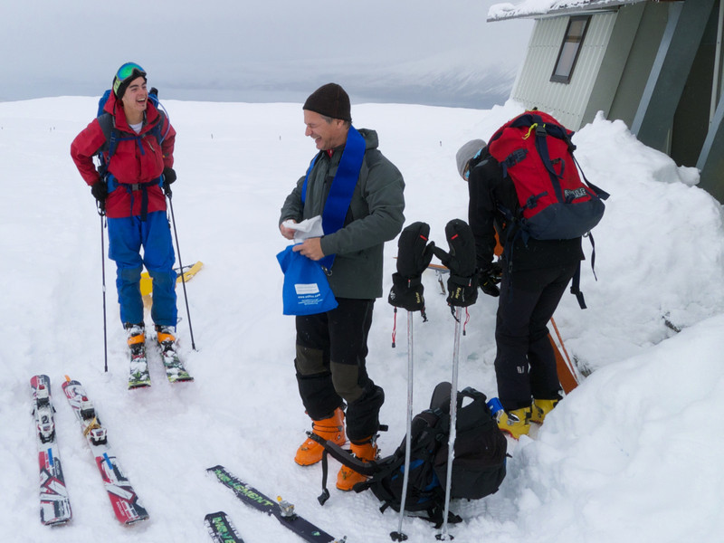 We shared Rex Simpson Hut with Antoine and his wife.  They travelled from France to experience NZ's backcountry skiing.
