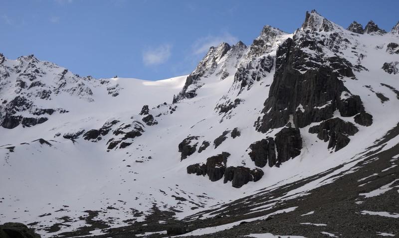Mt Dark above the camp