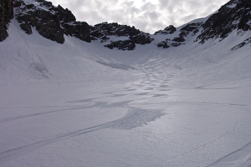 Rob's and Dan's ski tracks