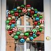 Beautiful Christmas bulb wreath in Portland