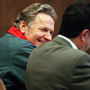 Hicks, James sentencing SL JP  (POWER PC, 12/5 file)<br /> Convicted murderer James Hicks shows no apparent remorse during his sentencing for the murders of Jerilyn Towers and Lynn Willette in Penobscot Superior Court on Monday morning.  Hicks sits with his lawyer Jeffery Silverstein (r) in court.<br /> PHOTO BY SUSAN LATHAM