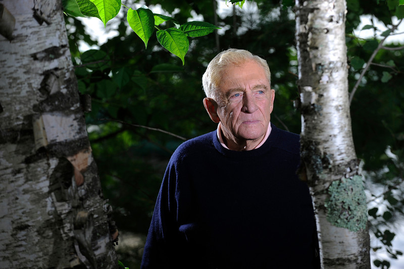 Donn Fendler  (BANGOR DAILY NEWS PHOTO BY JOHN CLARKE RUSS)<br /> <br /> CAPTION<br /> <br /> It has been 70 years since Donn Fendler, then a twelve-year-old Boy Scout from Rye, NY, lost his way while hiking with other scouts on Maine's highest peak. After wandering aimlessly for eight days and enduring the elements of Maine's rugged wilderness, he made it out alive. Photographed at his summer residence on Sebasticook Lake in Newport, Maine July 14, 2009.  (Bangor Daily News/John Clarke Russ)