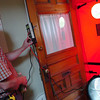 CAPTION<br /> Paul Shepherd with Penobscot Home Performance sets up a blower door at the Bangor home of Keith and Beth Bisson to measure air leakage while performing a home energy audit Friday, June 11, 2010. (Bangor Daily News/Bridget Brown)    (WEB EDITION PHOTO)
