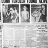 The front-page story in the July 26, 1939 edition of the Bangor Daily News celebrated the safe return of Donn Fendler, the 12-year-old boy who had been lost on Mount Katahdin for nine days.  (Bangor Daily News photo)