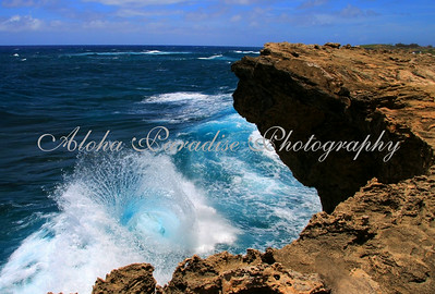 WAVES COLLIDE MAHA'ULEPU COAST, KAUAI
