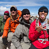 (left to right) Dan Sidles, Aaron Isaacson, Cody Miranda, and Steve Baskis on the summit of James Peak, Colorado.