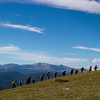 The Soldiers to the Summit team enroute to James Peak in Colorado.