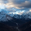 Morning arrives in the Himalaya. View from high up on Lobuche. Photo by Didrik Johnck.