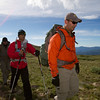 Ike Isaacson leads blind soldier Steve Baskis to the summit of James Peak in Colorado.