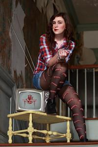 Hannah Selector Posing in Old Mansion