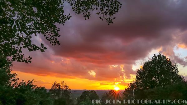 Paris Mountain Sunset