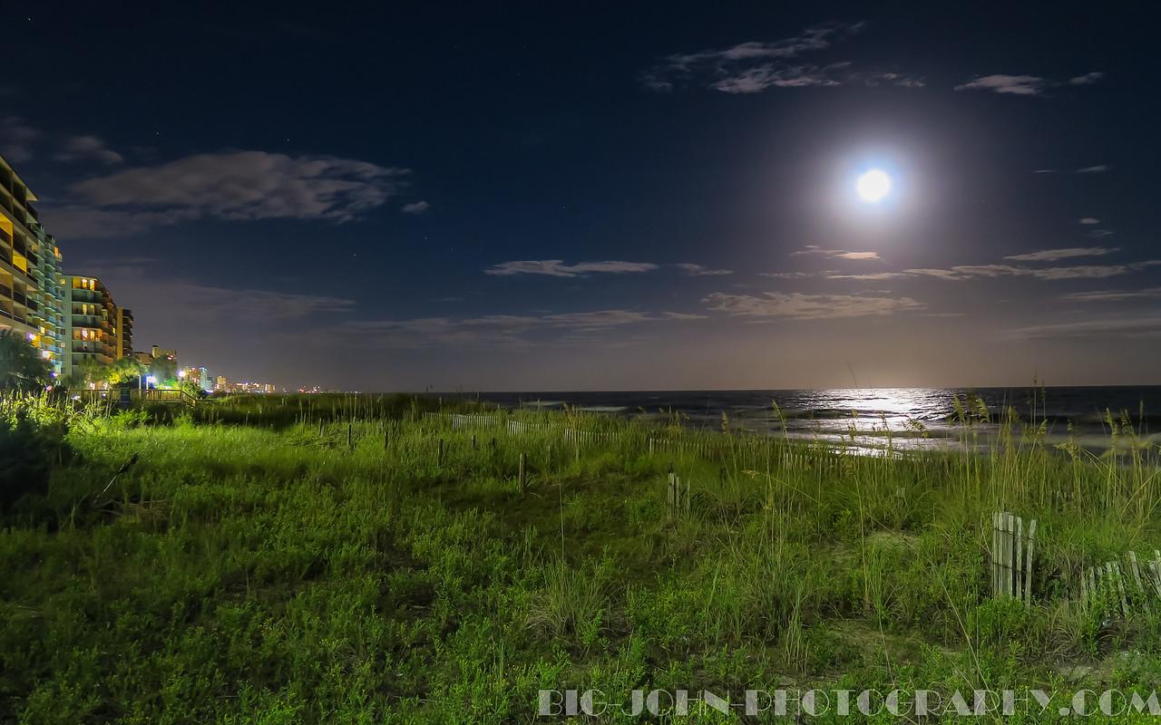 Moon over Myrtle beach- Hand held HDR