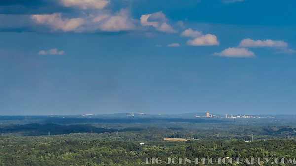 The view of downtown Greenville from Pickens S.C.