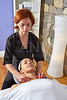 Shoulders neck massage physiotherapist woman