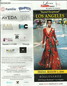 LATINO FASHION WEEK FLYER