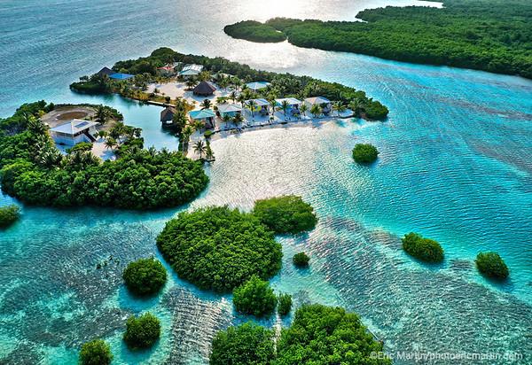 BELIZE. Le Royal Palm Island sur l ile de Little Frenchman Caye