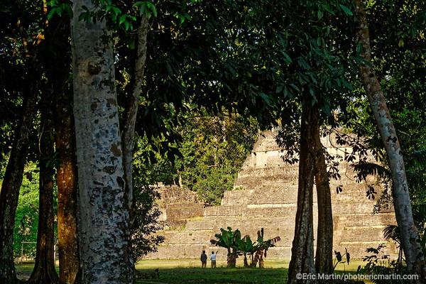 BELIZE. Le site archéologique maya de Caracol.