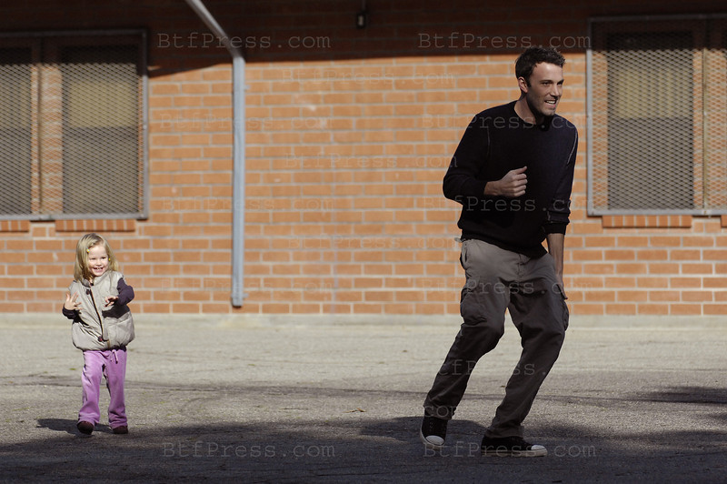 LE PAS DE DANSE with Ben Affleck and his daughter Violet.