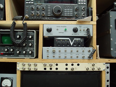 These are the operator control panels, the exciter/amplifier/antenna patch panel, transmitter selector, and recieve audio switch panel.